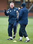 Jack and Victor at it again as Ally McCoist gets an accusing finger of cheating jabbed at him by Kenny McDowall