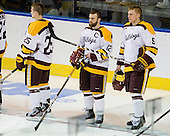 Justin Crandall (Duluth - 25), Jack Connolly (Duluth - 12), Chris Casto (Duluth - 5) - The University of Minnesota Duluth Bulldogs defeated the University of Maine Black Bears 5-2 in their NCAA Northeast semifinal on Saturday, March 24, 2012, at the DCU Center in Worcester, Massachusetts.