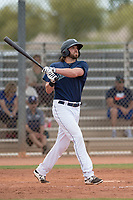Seattle Mariners first baseman Caleb Eldridge (19) during a Minor League Spring Training game against the San Diego Padres at Peoria Sports Complex on March 24, 2018 in Peoria, Arizona. (Zachary Lucy/Four Seam Images)