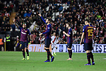 FC Barcelona's Gerard Pique celebrates goal during La Liga match between Rayo Vallecano and FC Barcelona at Vallecas Stadium in Madrid, Spain. November 03, 2018. (ALTERPHOTOS/A. Perez Meca)