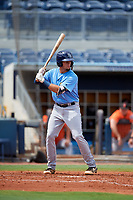 Tampa Bay Rays Dawson Dimon (63) at bat during a Florida Instructional League game against the Baltimore Orioles on October 1, 2018 at the Charlotte Sports Park in Port Charlotte, Florida.  (Mike Janes/Four Seam Images)