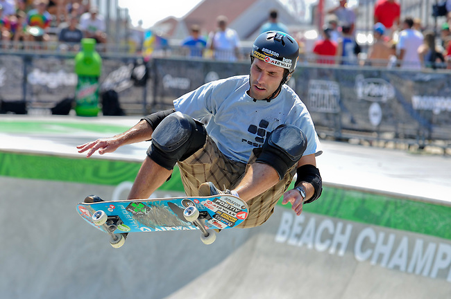 16 August, 2012:  Andy Macdonald competes in the Skateboard Bowl Semi-final at the Pantech Beach Championships in Ocean City, MD