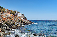 A small chapel at Orkos bay in Kea, Greece
