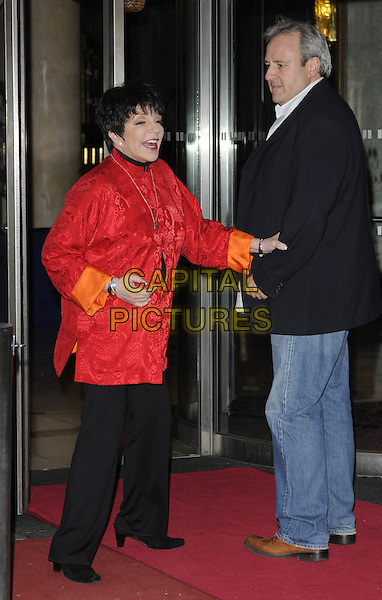 Liza Minnelli.Nordoff Robbins Silver Clef Awards 2011, Intercontinental Hotel, Park Lane, London, England 1st July 2011.full length red red satin tunic cchinese top black trousers.CAP/CAN.©Can Nguyen/Capital Pictures.