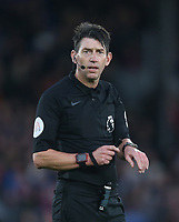 Referee Lee Probert<br /> <br /> Photographer Rob Newell/CameraSport<br /> <br /> The Premier League - Saturday 1st December 2018 - Crystal Palace v Burnley - Selhurst Park - London<br /> <br /> World Copyright &copy; 2018 CameraSport. All rights reserved. 43 Linden Ave. Countesthorpe. Leicester. England. LE8 5PG - Tel: +44 (0) 116 277 4147 - admin@camerasport.com - www.camerasport.com