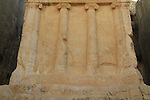 Israel, Jerusalem, Kidron valley, the tomb of Zecharia is carved at the foot of the Mount of Olives facing Temple Mount