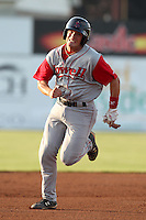 Lowell Spinners Catcher Sean Killeen during a game vs. the Batavia Muckdogs at Dwyer Stadium in Batavia, New York July 14, 2010.   Batavia defeated Lowell 12-2.  Photo By Mike Janes/Four Seam Images
