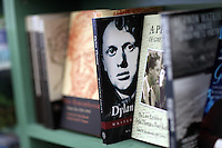 Monday 26 May 2014, Hay on Wye, UK<br /> Pictured: A selection of Dylan Thomas books in the festival book store<br /> Re: The Hay Festival, Hay on Wye, Powys, Wales UK.
