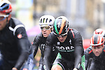 Riders including Sam Bennett (IRL) tackle the 9 laps of the Harrogate circuit during the Men Elite Road Race of the UCI World Championships 2019 running 261km from Leeds to Harrogate, England. 29th September 2019.<br /> Picture: Eoin Clarke | Cyclefile<br /> <br /> All photos usage must carry mandatory copyright credit (© Cyclefile | Eoin Clarke)