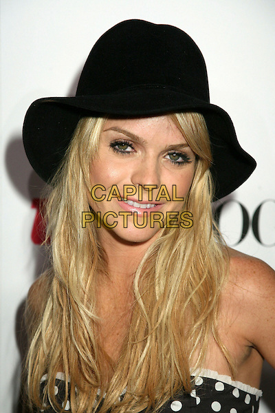 "TARYNN MANNING.Teen Vogue's ""Young Hollywood"" Issue Party at the Sunset Tower Hotel, West Hollywood, California, USA,.20 September 2006..portrait headshot black hat.Ref: ADM/BP.www.capitalpictures.com.sales@capitalpictures.com.©Byron Purvis/AdMedia/Capital Pictures."