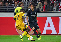 Daichi Kamada (Eintracht Frankfurt) gegen Collins Fai (Standard Lüttich, R. Standard de Liege) - 24.10.2019:  Eintracht Frankfurt vs. Standard Lüttich, UEFA Europa League, Gruppenphase, Commerzbank Arena<br /> DISCLAIMER: DFL regulations prohibit any use of photographs as image sequences and/or quasi-video.
