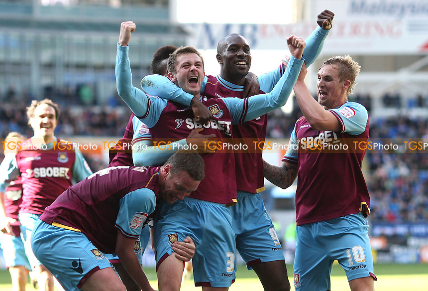 George McCartney celebrates after scoring the 2nd goal for West Ham - Cardiff City vs West Ham United, npower Championship at Cardiff City Stadium, Cardiff - 04/03/12 - MANDATORY CREDIT: Rob Newell/TGSPHOTO - Self billing applies where appropriate - 0845 094 6026 - contact@tgsphoto.co.uk - NO UNPAID USE..
