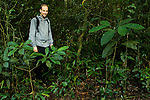 Sebastian Kennerknecht in rainforest, Kibale National Park, western Uganda
