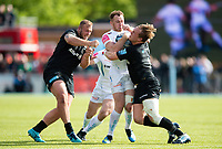 Max Bodilly of Exeter Chiefs takes on the Saracens defence. Gallagher Premiership match, between Saracens and Exeter Chiefs on May 4, 2019 at Allianz Park in London, England. Photo by: Patrick Khachfe / JMP