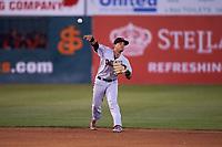 Visalia Rawhide shortstop Jancarlos Cintron (3) during a California League game against the San Jose Giants on April 12, 2019 at San Jose Municipal Stadium in San Jose, California. Visalia defeated San Jose 6-2. (Zachary Lucy/Four Seam Images)
