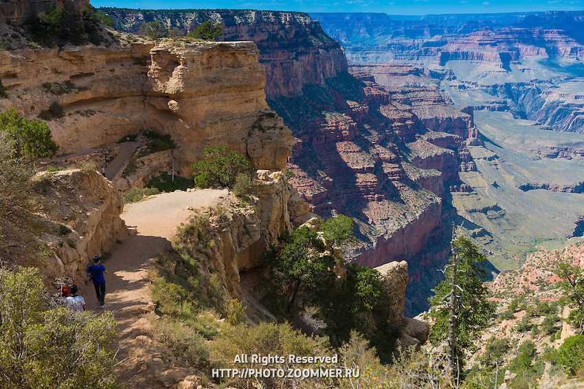 People On Grand Canyon Trails, Arizona