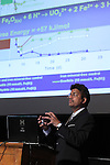 "LEAD, S.D. -- JULY 13, 2013 -- Dr. Rajesh Sani, Assistant Professor of Biology at South Dakota School of Mines & Technology, speaks about ""Biofuels and Deep Life"" during Neutrino Day activities at the Historic Homestake Opera House in Lead, S.D. Saturday. (Photo by Richard Carlson/dakotapress.org)"