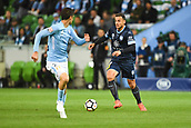 3rd November 2017, Melbourne Rectangular Stadium, Melbourne, Australia; A-League football, Melbourne City FC versus Sydney FC; Bobo of Sydney FC runs forward with the ball