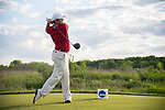 SUGAR GROVE, IL - MAY 29: Jonathan Hardee of the University of Alabama tees off during the Division I Men's Golf Individual Championship held at Rich Harvest Farms on May 29, 2017 in Sugar Grove, Illinois. (Photo by Jamie Schwaberow/NCAA Photos via Getty Images)