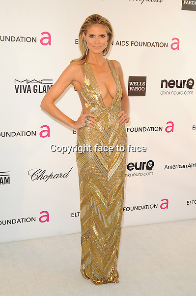 Heidi Klum at the 21st Annual Elton John AIDS Foundation Academy Awards Viewing Party at Pacific Design Center on February 24, 2013 in West Hollywood, California...Credit: MediaPunch/face to face..- Germany, Austria, Switzerland, Eastern Europe, Australia, UK, USA, Taiwan, Singapore, China, Malaysia and Thailand rights only -