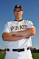 Feb 28, 2010; Bradenton, FL, USA; Pittsburgh Pirates  infielder Bobby Crosby (2) during  photoday at Pirate City. Mandatory Credit: Tomasso De Rosa/ Four Seam Images