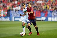 Iñigo Pérez (midfield; CA Osasuna) during the Spanish <br /> la League soccer match between CA Osasuna and Elche CF at Sadar stadium, in Pamplona, Spain, on Saturday, <br /> agost 26, 2018.