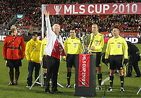 Mayor of Toronto at MLS Cup 2010 at BMO Stadium in Toronto, Ontario on November 21 2010. Colorado won 2-1 in overtime.