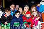 Eamon, Christopher and Marguerote McSweeney, Adrian Fiztgerald, Helena, Gavin and Niamh McSweeney and Margaret Maddigan  at the Kiilarney Christmas parade on Saturday night