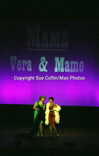 Karen Mason & Colleen Zenk perform as Vera and Mame from Mame as they star in CAP 21 presents SUMMER STOCK NYC, a celebration of the Broadway Musical on July 17, 2010 at the Michael Schimmel Center for the Arts, Pace University, NYC. (Photo by Sue Coflin/Max Photos)