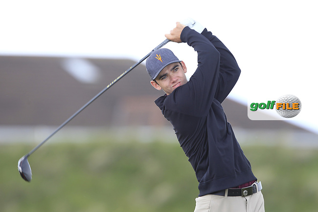 Cameron Sisk (USA) on the 5th tee during Round 1 of the The Amateur Championship 2019 at The Island Golf Club, Co. Dublin on Monday 17th June 2019.<br /> Picture:  Thos Caffrey / Golffile<br /> <br /> All photo usage must carry mandatory copyright credit (© Golffile | Thos Caffrey)