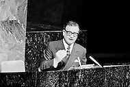 04 Dec 1972 --- The Chilean President Salvador Allende addressing the United Nations General Assembly. --- Image by © JP Laffont