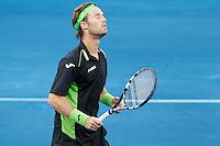 08.05.2012. Madrid, Spain, ATP Mens Madrid Open Tennis Tournament. Match played between Novak Djokovic (SRB) vs Daniel GimenoTraver (SPA) Picture show Daniel GimenoTraver during match.