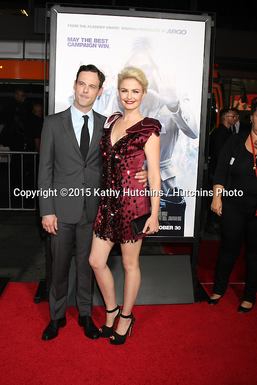 """LOS ANGELES - OCT 26:  Scoot McNairy, Whitney Able at the """"Our Brand is Crisis"""" LA Premiere at the TCL Chinese Theater on October 26, 2015 in Los Angeles, CA"""