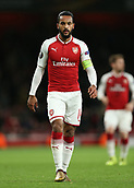7th December 2017, Emirates Stadium, London, England; UEFA Europa League football, Arsenal versus BATE Borisov; Theo Walcott of Arsenal looks on