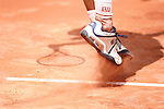 Roland Garros. Paris, France. May 28th 2006. .Hartfield serves against Federer during the first tour of the tennis french open.
