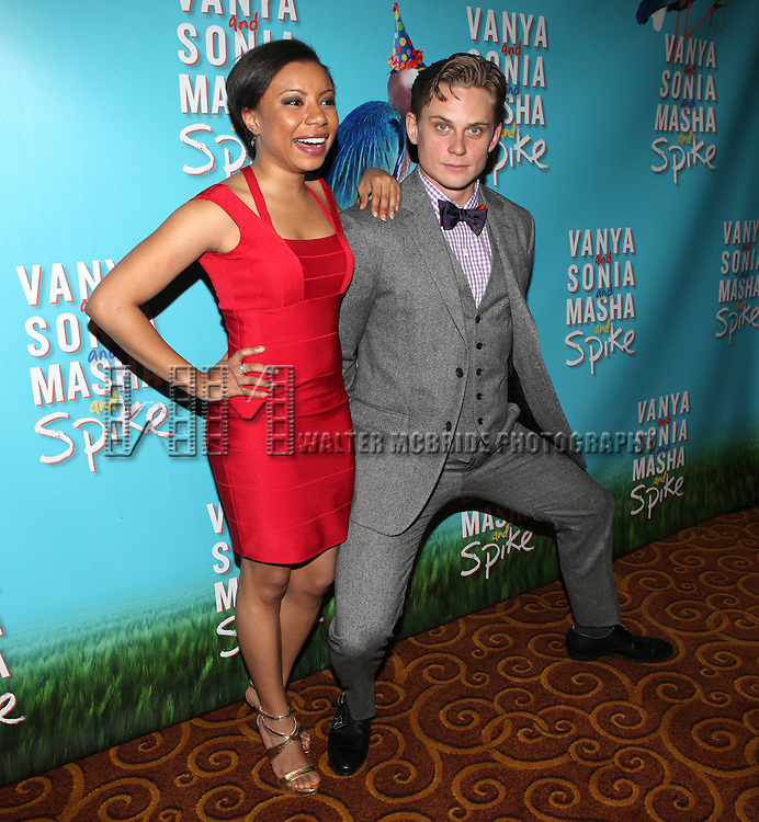 Shalita Grant & Billy Magnussen attending the Broadway Opening Night Performance after party for  'Vanya and Sonia and Masha and Spike' at the Gotham Hall in New York City on 3/14/2013.