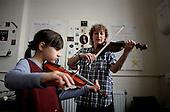 Violin lesson run by Haringey School Music Service.