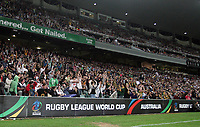 PICTURE BY VAUGHN RIDLEY/SWPIX.COM - Rugby League - Rugby League World Cup 2008 - Australia v New Zealand - Sydney Football Stadium, Sydney, Australia - 26/10/08...Copyright - Simon Wilkinson - 07811267706...Fans, Supporters take part in the Mexican Wave.