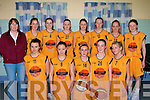 St Bridgets Currow under 16 girls basketball team getting ready for the under 16 girls cup final in Cumann Ioseaf, Gym, Tralee on Sunday. Aileen O'Sullivan, Coleen Breen, Ciara Breen, Shannon Kelly, Ciara Galway, Niamh Hannafin, Katie O'Connor, Maria Curtin, Rebecca Breen, Sarah O'Connor  and Kate Dennehy..........
