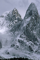 La Verte & Les Drus after a September storm, Chamonix Mont Blanc, France, 1998