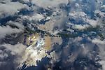 Aerial of Amazon River Basin, Manaus, Brazil