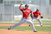 Boston Red Sox pitcher Jeffrey Wendelken #51 during a minor league Spring Training game against the Minnesota Twins at JetBlue Park Training Complex on March 27, 2013 in Fort Myers, Florida.  (Mike Janes/Four Seam Images)