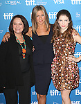 Adriana Barazza, Jennifer Aniston and Anna Kendrick during the Photo Call for 'Cake' at the the tiff Bell Lightbox during the 2014 Toronto International Film Festival on September 9, 2014 in Toronto, Canada.