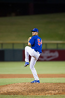 AZL Cubs relief pitcher Peyton Remy (54) delivers a pitch during a game against the AZL Athletics on August 9, 2017 at Sloan Park in Mesa, Arizona. AZL Athletics defeated the AZL Cubs 7-2. (Zachary Lucy/Four Seam Images)