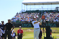 Rory McIlroy (NIR) tees off the 17th tee during Thursday's Round 1 of the 118th U.S. Open Championship 2018, held at Shinnecock Hills Club, Southampton, New Jersey, USA. 14th June 2018.<br /> Picture: Eoin Clarke | Golffile<br /> <br /> <br /> All photos usage must carry mandatory copyright credit (&copy; Golffile | Eoin Clarke)