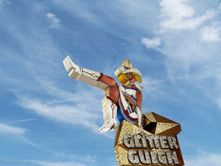 Singage in USA Glitter Gulch