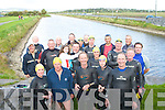 A group of swimmers who swam from Blennerville to the Basin in Tralee on Tuesday evening.