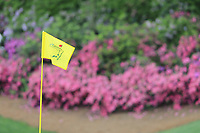 The flag pin on the 13 green during the 1st round at the The Masters , Augusta National, Augusta, Georgia, USA. 11/04/2019.<br /> Picture Fran Caffrey / Golffile.ie<br /> <br /> All photo usage must carry mandatory copyright credit (© Golffile | Fran Caffrey)
