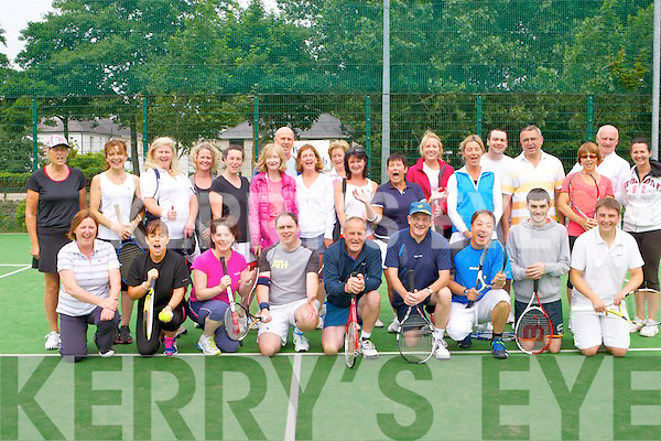 BBQ: Having a great time at the Tralee Tennis Club annual BBQ at the clubhouse on Saturday.