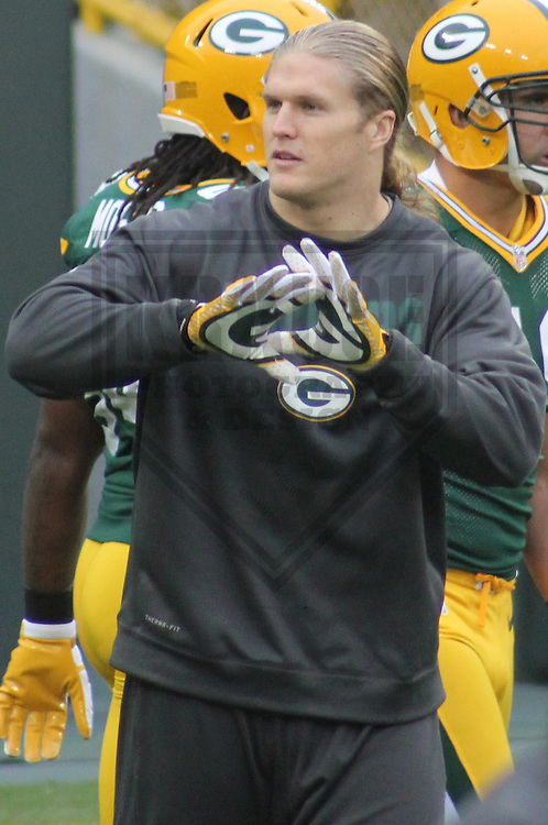 GREEN BAY - December 2012: Clay Matthews (52) of the Green Bay Packers prior to a game against the Minnesota Vikings on December 2, 2012 at Lambeau Field in Green Bay, Wisconsin. Green Bay defeated Minnesota 23-14. (Photo by Brad Krause).
